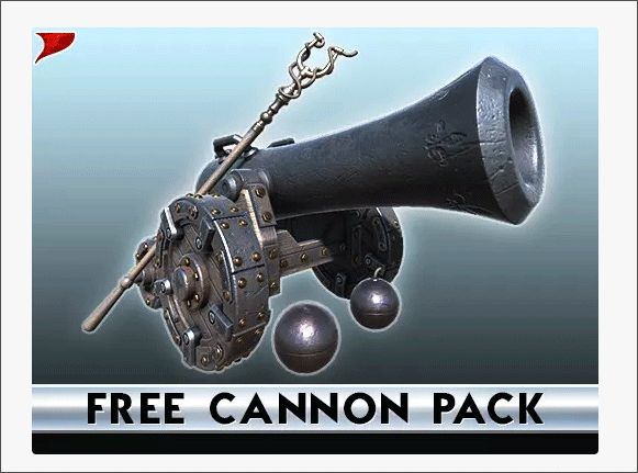 A cannon model in the Unity Asset store
