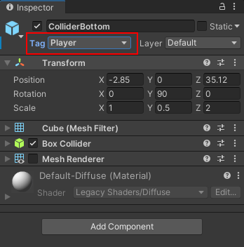 Changing the Tag of a game object