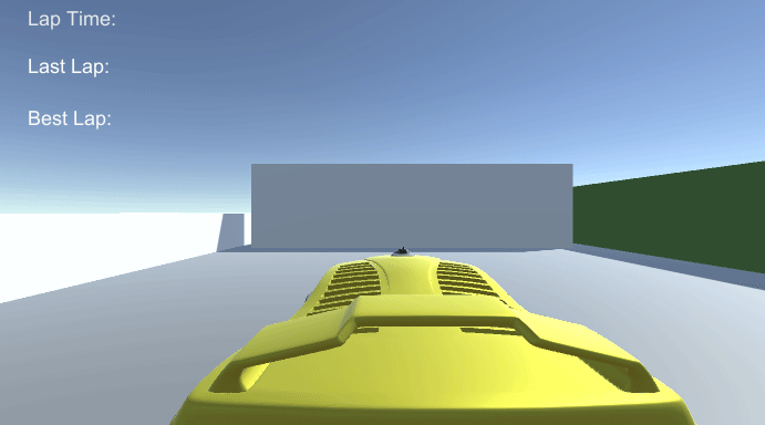 A car in game view with a color change