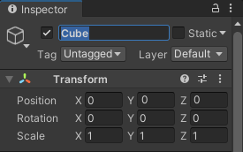 Inspector rename game object
