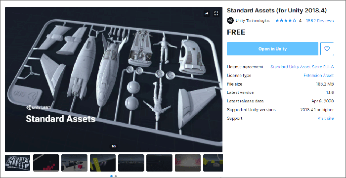 The Standard Assets in the Unity store