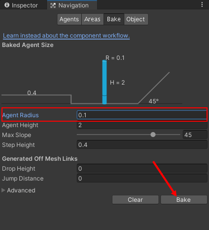 Changing the Agent Radius for a NavMesh