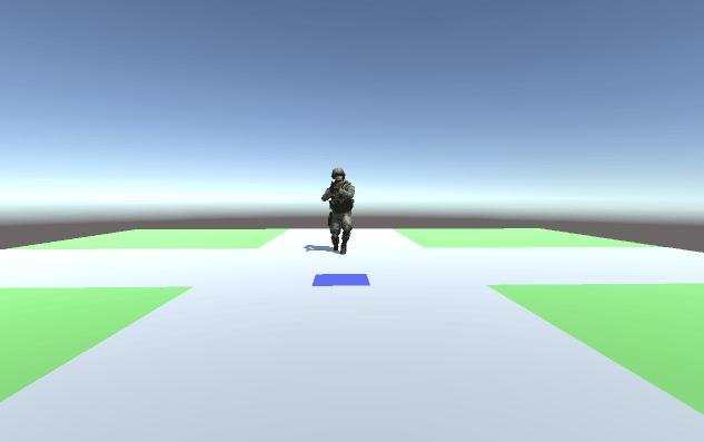 3D model running to an AI destination