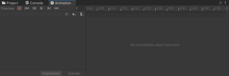 The Animation window in Unity
