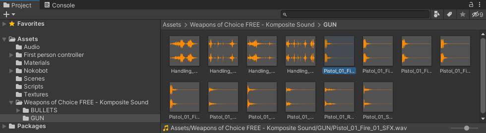 Audio files in Unity