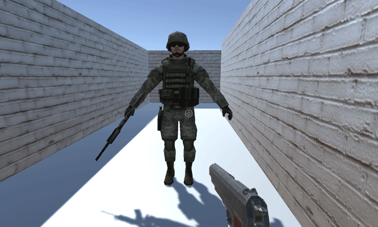 3D soldier model reccaled