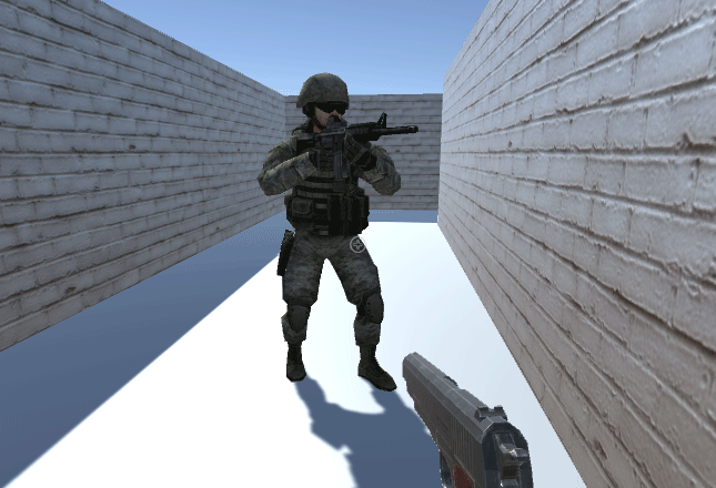 3D soldier model in an Idle pose