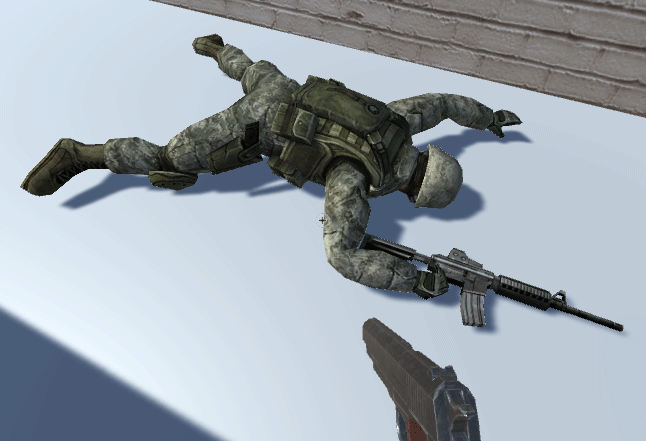 The problem with the animation resoved as all the soldier is now visible