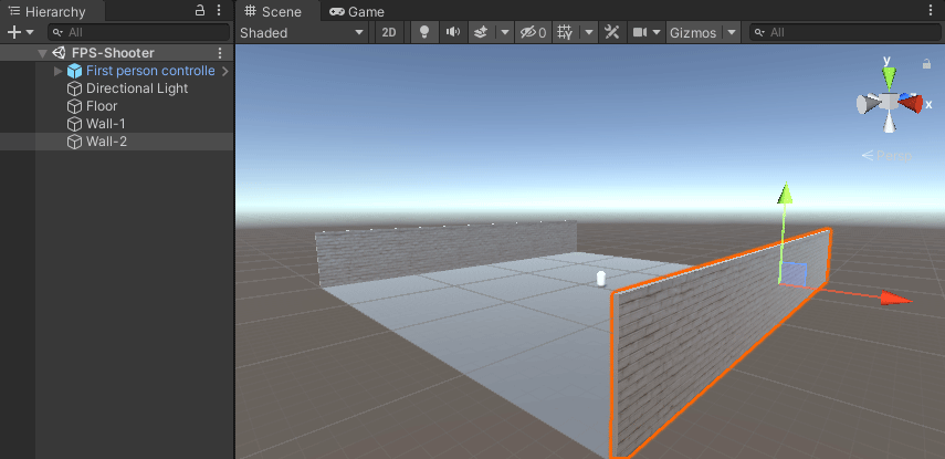 Duplicating a wall game object in Unity