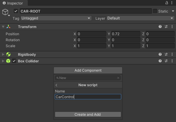 Adding a new C# script to a component in Unity