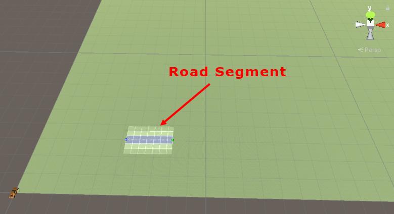 A road segment added to a terrain