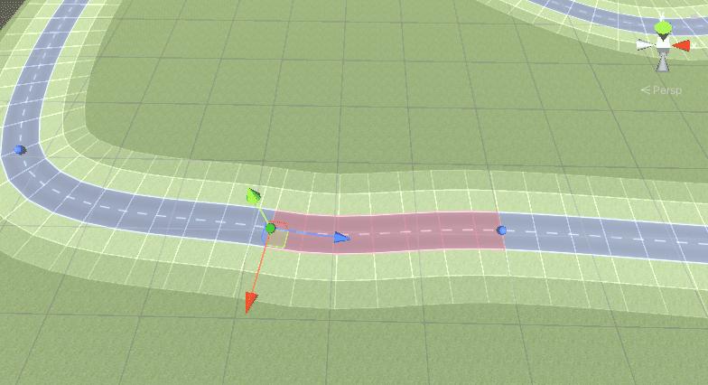 Adjusting a road segment