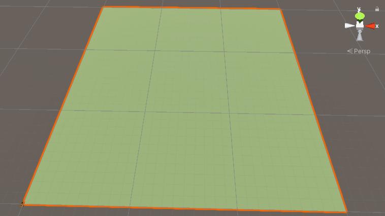 A flat terrain in Unity