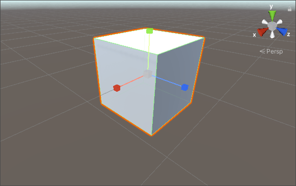 A 3D cube being scaled