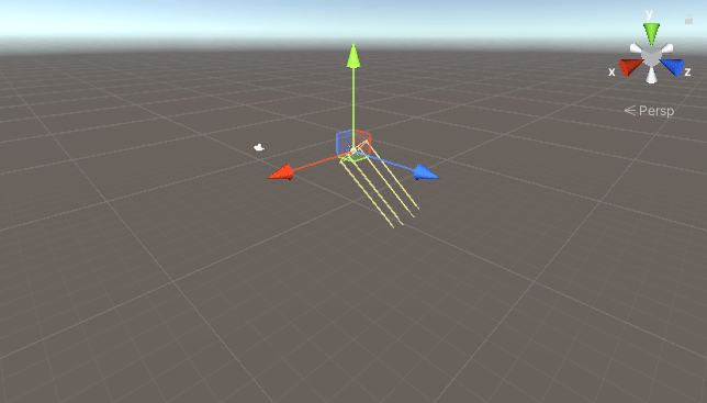 Scene view in Unity with the Directional Light selected