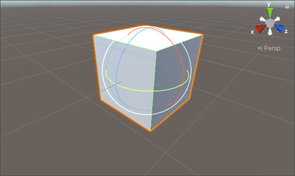 A 3D Cube being rotated in Unity