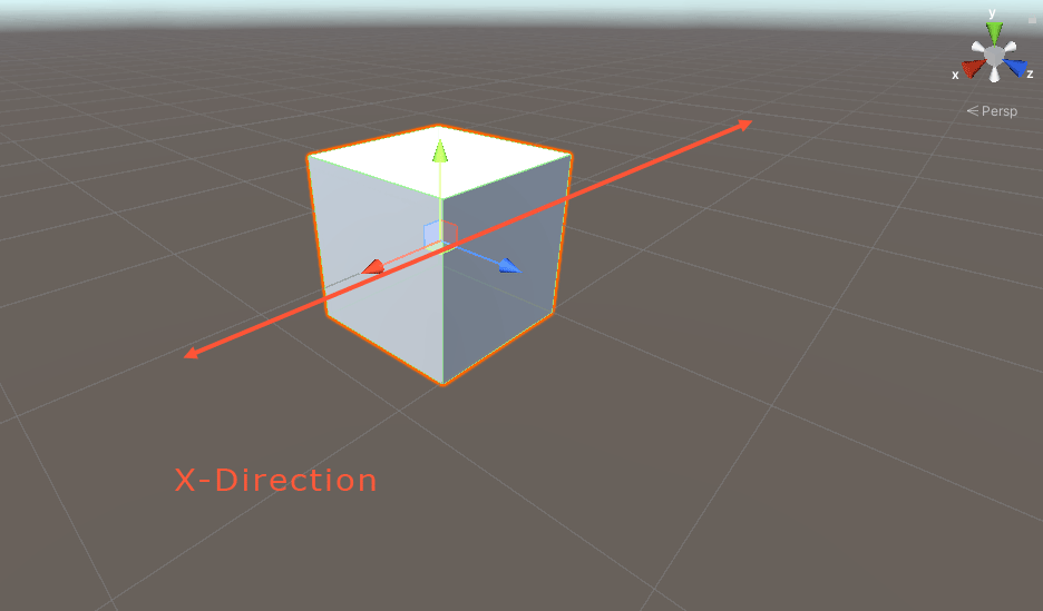 Moving a game object in the x direction