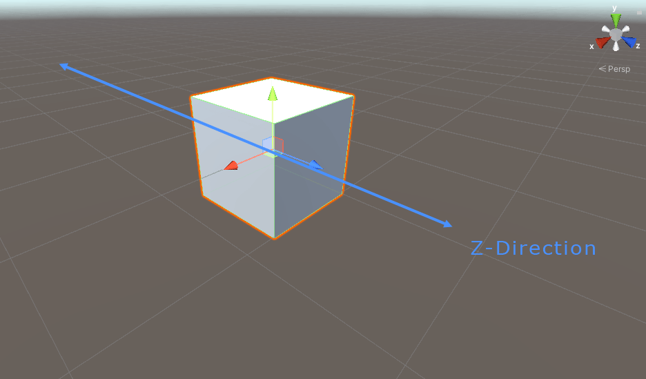 Moving a game object in the z direction