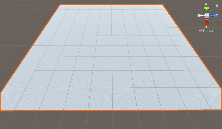 A Unity scene showing a default terrain