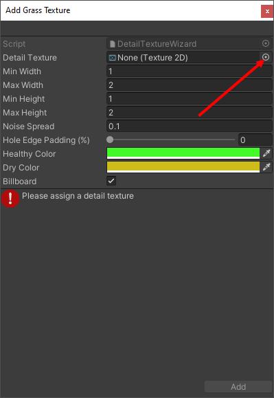 The Add Grass Texture dialog box