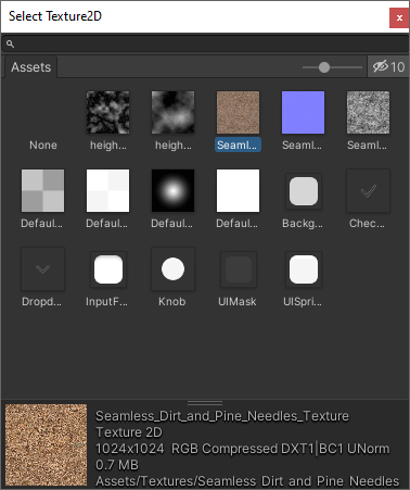 Selecting a texture for a terrain