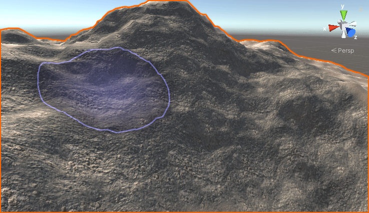 Painting a rock texture onto a terrain in Unity