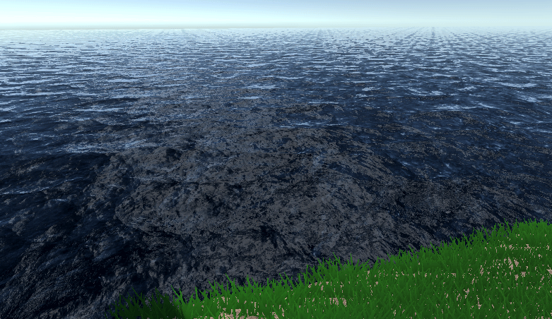 Game view in Unity showing water
